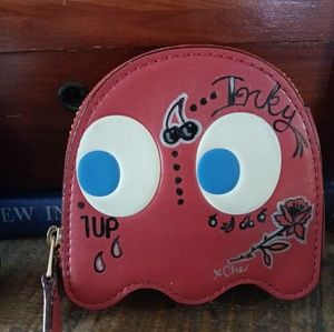 Coach Pacman coin purse tattooed